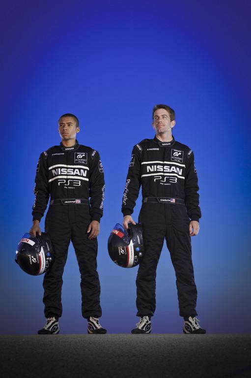 Nissan GT Academy: Jann Mardenborough (links) and Bryan Heitkotter (rechts).