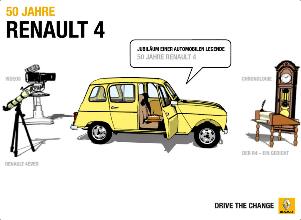 Renault 4, App, 50 Jahre Renault 4.