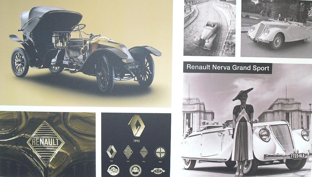 Renault-Ikonen in puncto Design, etwa von den ersten