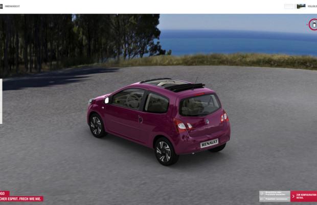 Renault-Internetseite jetzt mit 3-D-Konfigurator