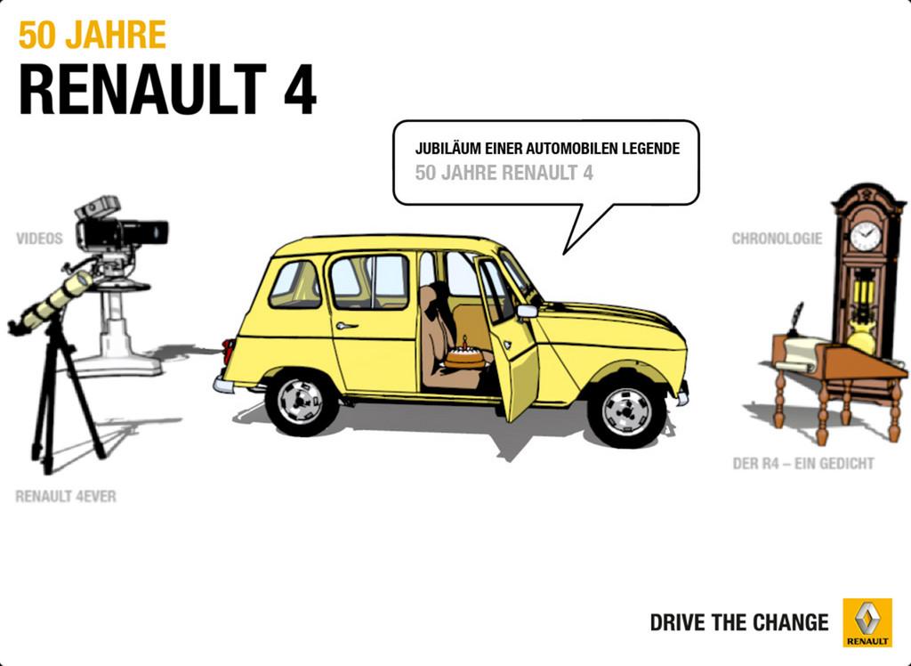 Renault bietet App für Fans und Freunde des Renault 4