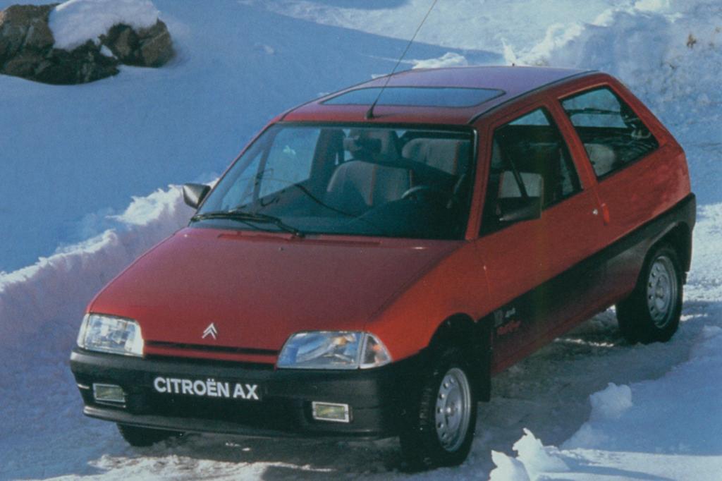 Schnee und schlechte Wege waren für den AX 4x4 kein Problem