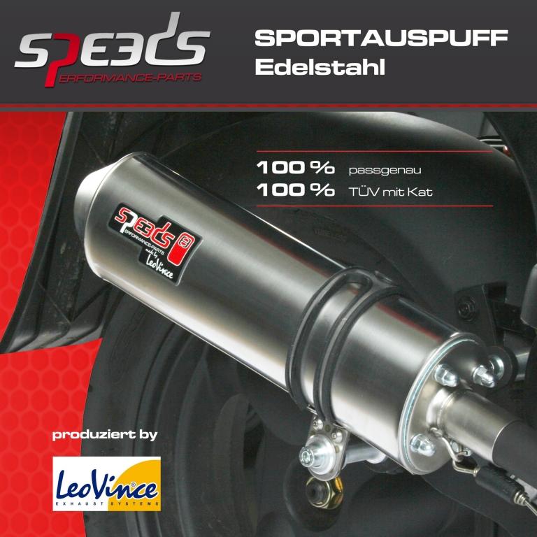 Speeds nimmt neuen Edelstahl-Sportauspuff für Scooter ins Programm