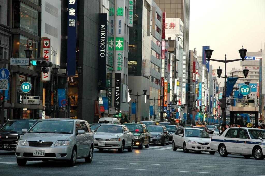 Straßenszene in Tokio: Es ist momentan nicht leicht, in Japan Autos zu verkaufen.