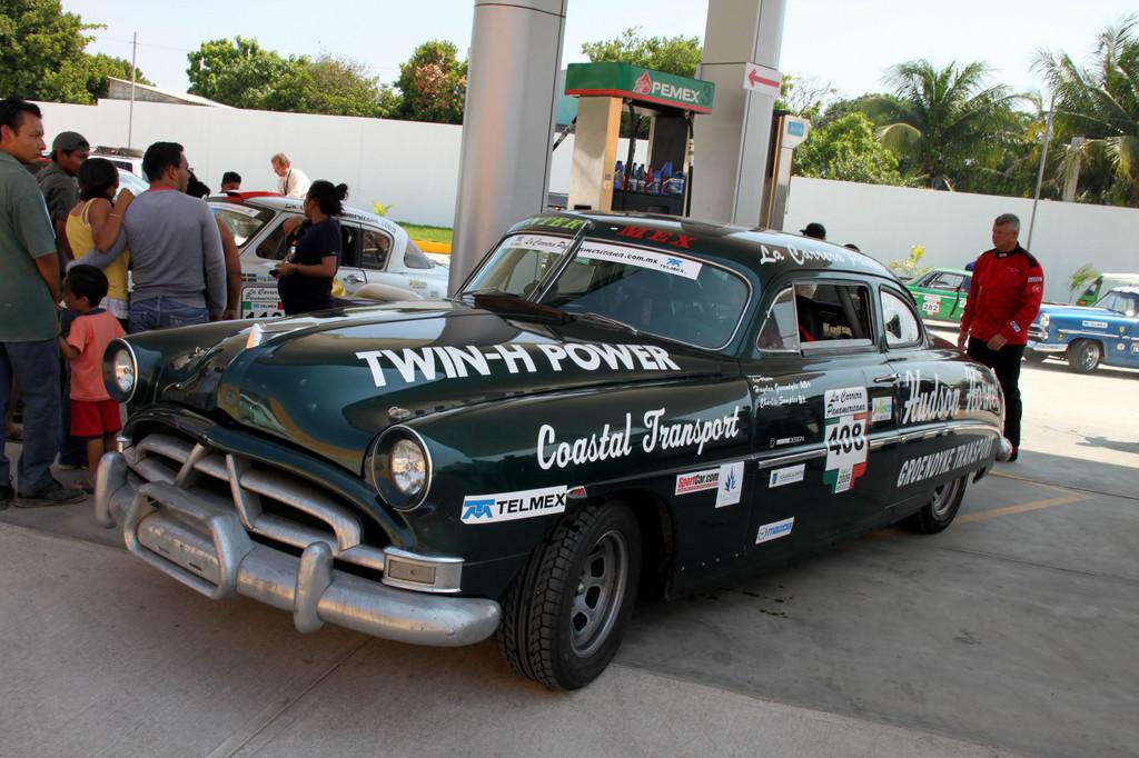 Szenen von der Carrera Panamericana 2011: Hudson aus den 60ger Jahren.