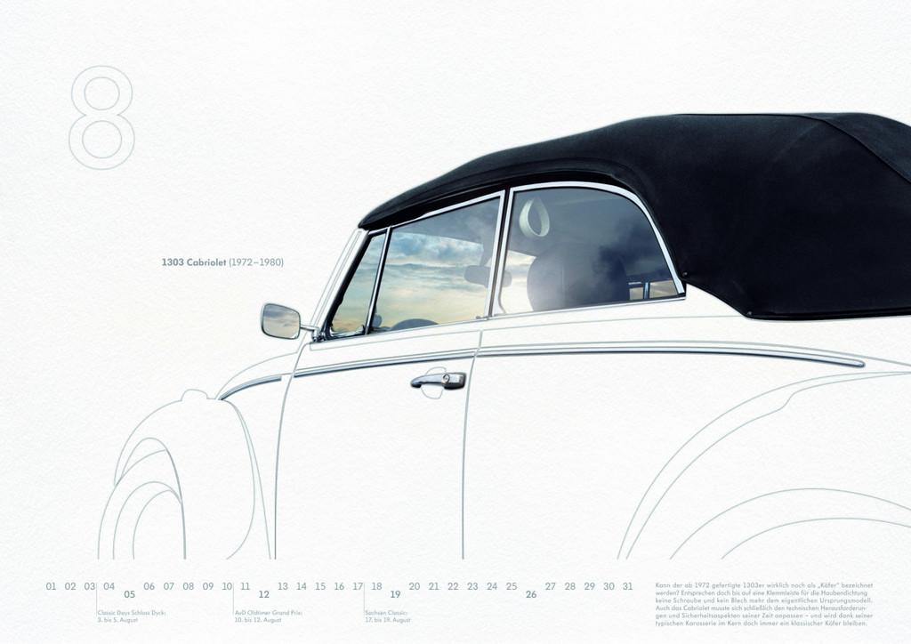 Volkswagen-Classic-Kalender 2012: Käfer 1303 Cabriolet.