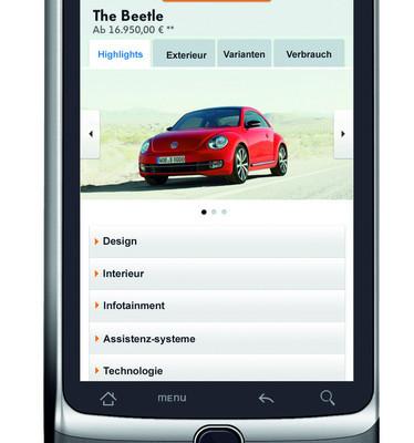 Volkswagen präsentiert mobile Website
