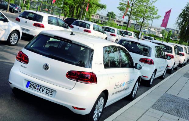 Volkswagen zieht Zwischenbilanz der Golf Blue-e-Motion-Erprobung