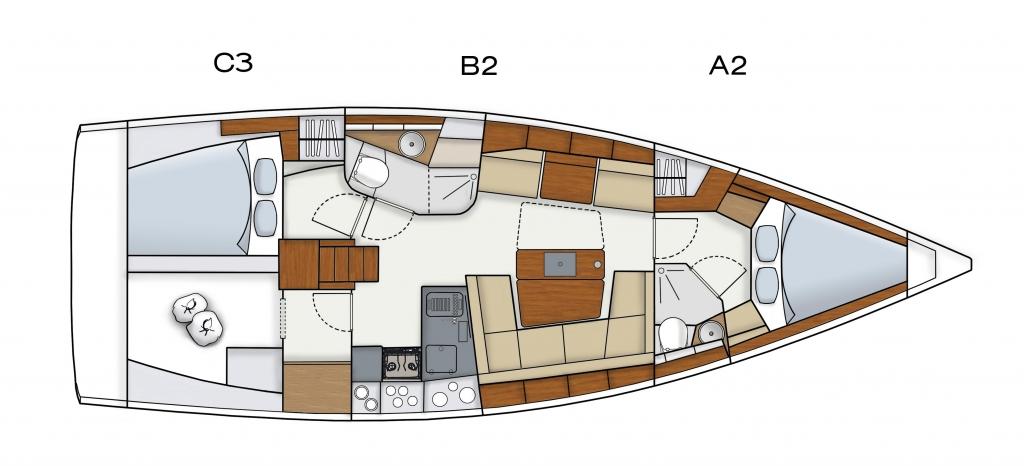boot Düsseldorf 2012: Hanse 415 - Neue Segelyacht läuft vom Stapel