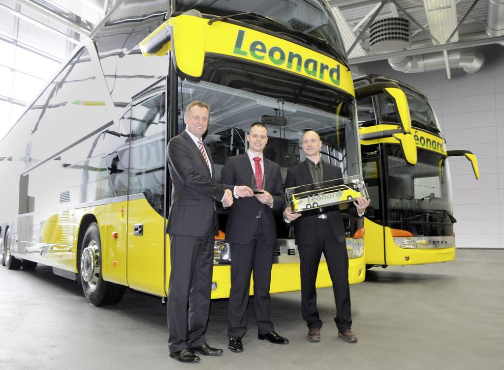 17 Setra-Reisebusse für Belgien