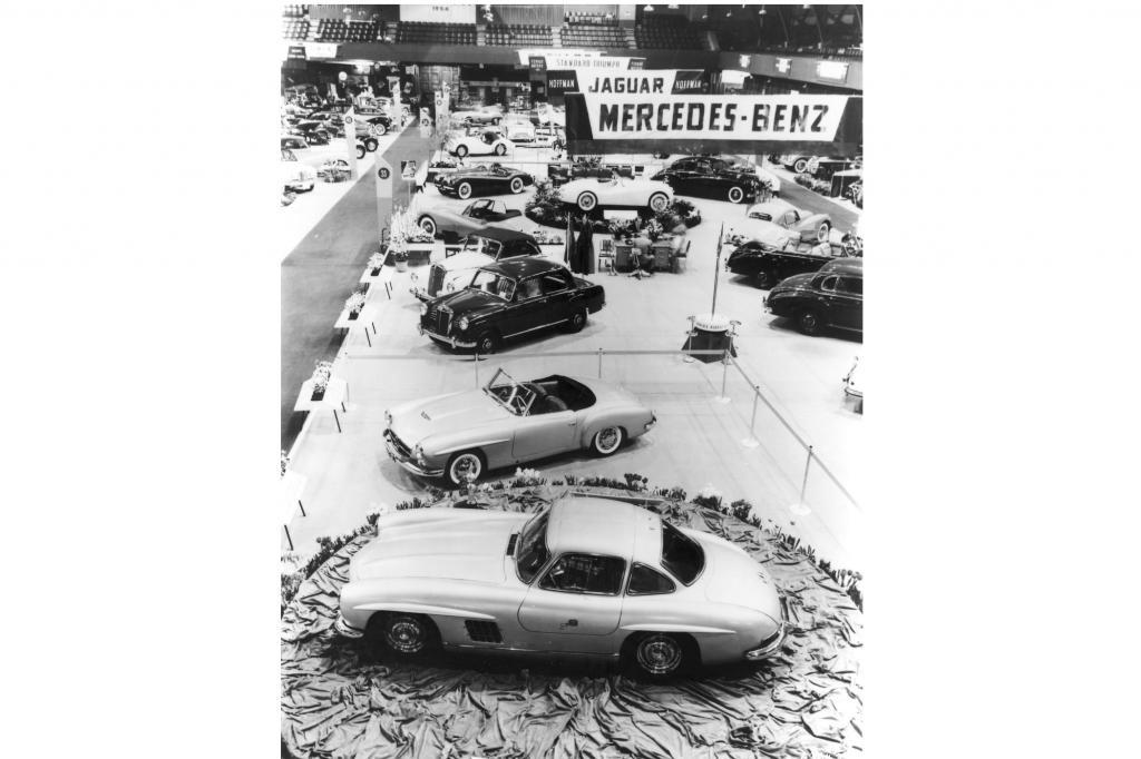 1954 feierten der 300 SL und der 190 SL in New York Premiere