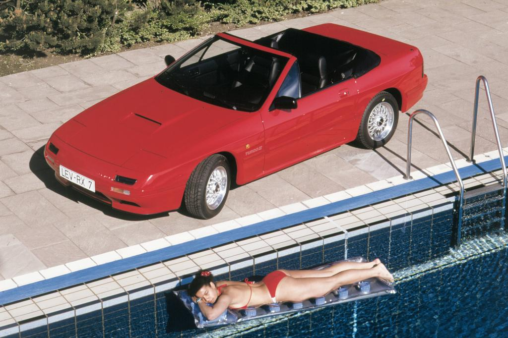 Den RX-7 gab es auch als Cabrio