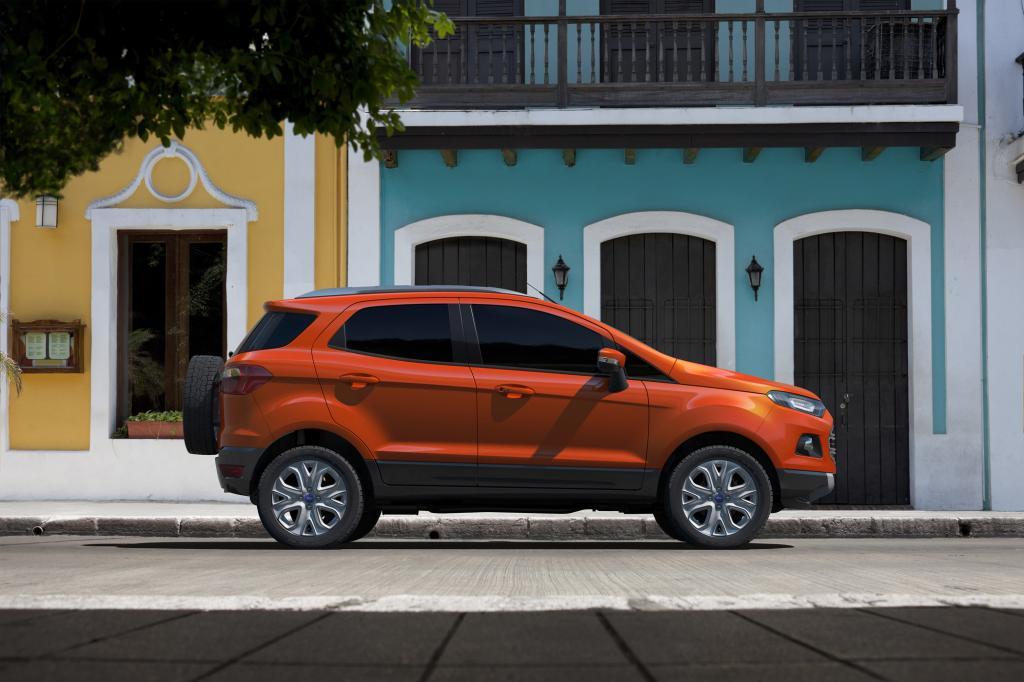 Der EcoSport basiert auf der Ford B-Plattform