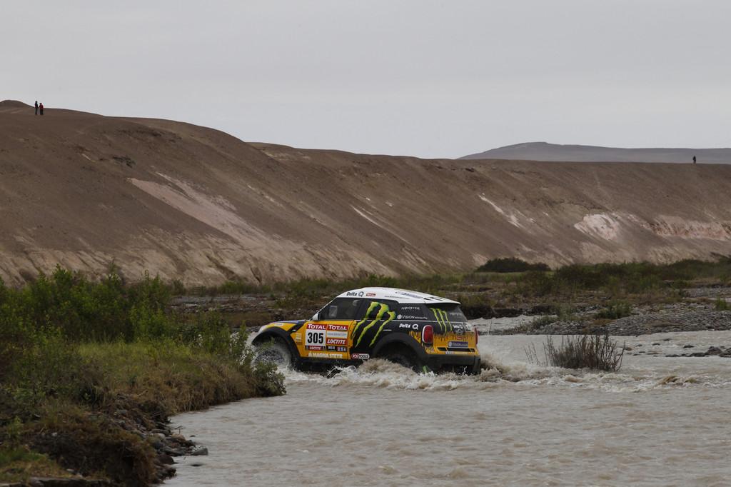 Der Mini 4All Racing von Joan Nani Roma und Michel Périn aus dem deutschen X-raid-Team.