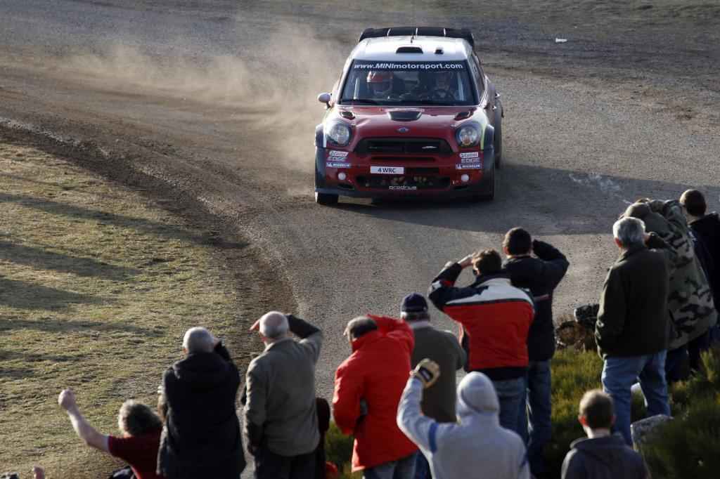 Der Mini bei der Rallye in Action