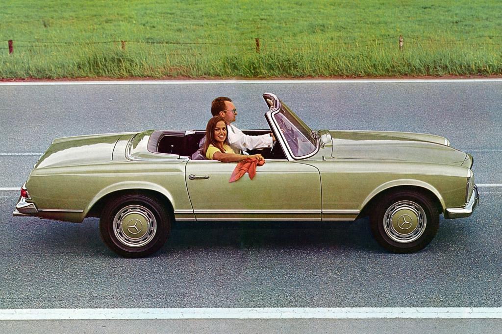 Der Pagoden-SL als Roadster