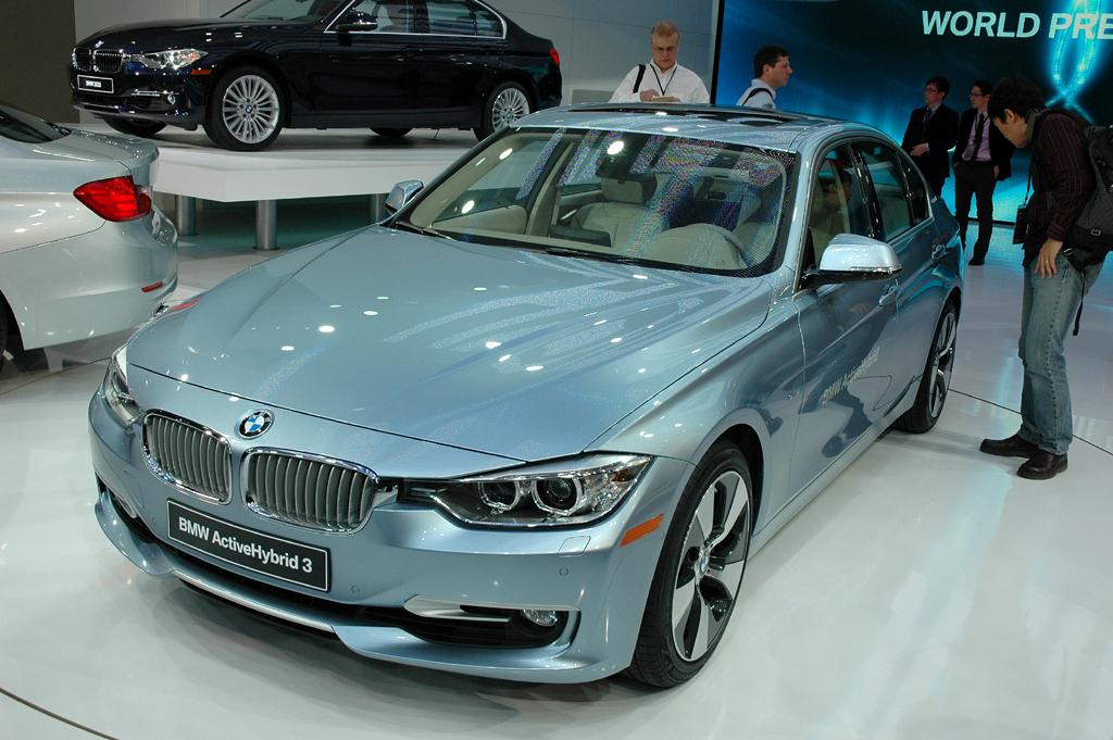 Deutsche Autobauer in den USA, hier BMW mit dem ActiveHybrid 3 gerade in Detroit.