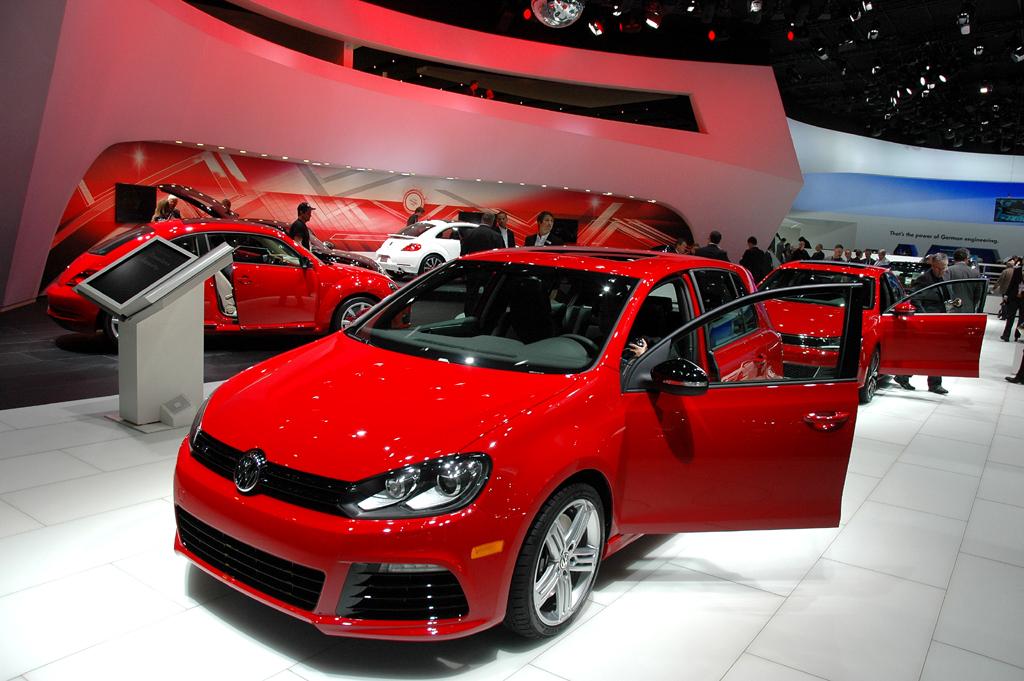Deutsche Autobauer in den USA, hier VW-Stand bei der Autoschau in Detroit.