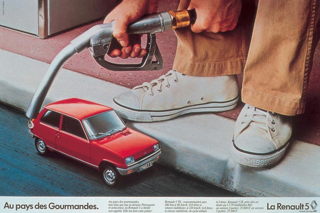 Die Werbung stellte den geringen Durst des Kleinwagens in den Fokus