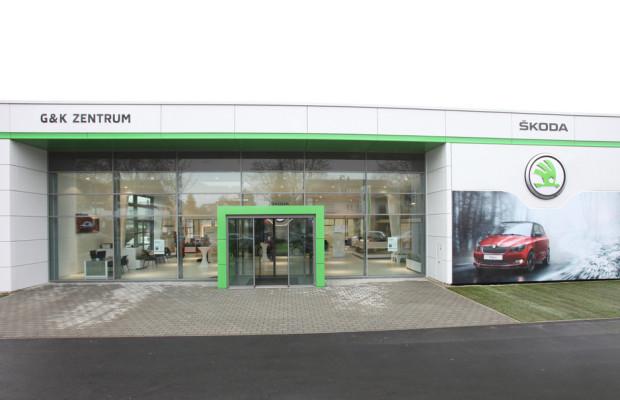 Erstes Skoda-Autohaus in neuem Unternehmensdesign