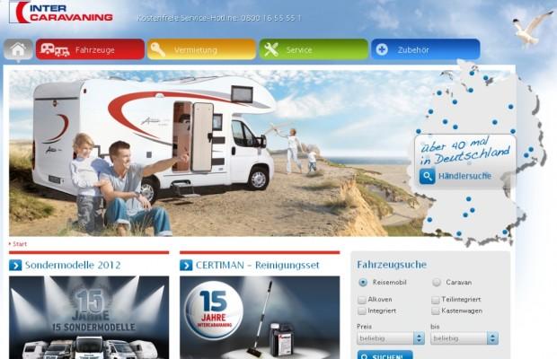 Intercaravaning mit neuer Webseite