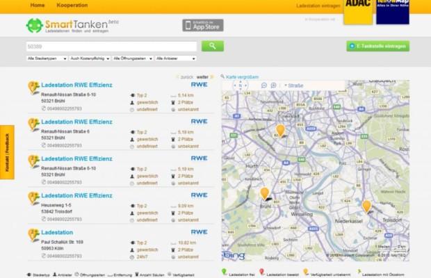 Internetportal für E-Autofahrer - Einfach zur nächsten Ladesäule