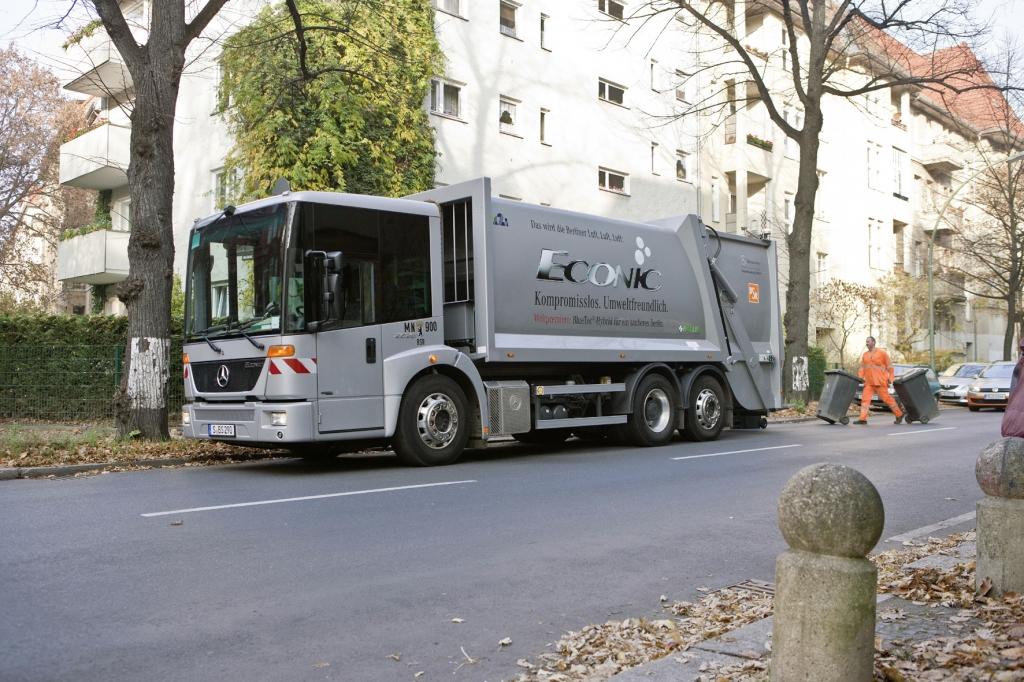 Müllwagen: Weniger Kraftstoffverbrauch durch Hybridantrieb