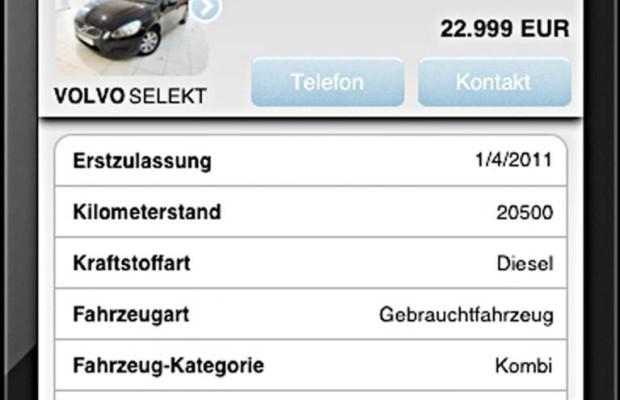 Per App gebrauchte Volvos suchen