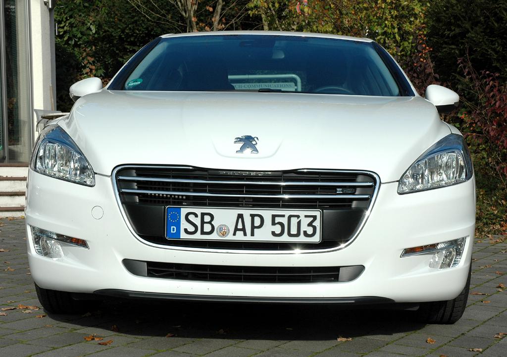 Peugeot 508: Blick auf die Frontpartie.