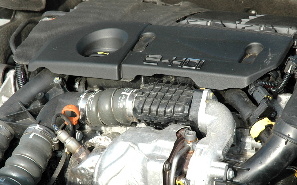 Peugeot 508: Blick unter die Haube des 1,6-Liter-Selbstzünders mit 82/112 kW/PS.