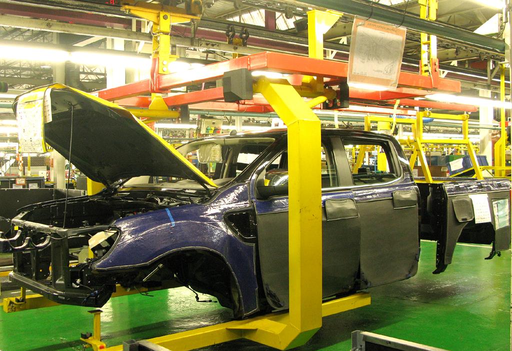 Ranger-Produktion im Ford-Werk in Pretoria, Südafrika.