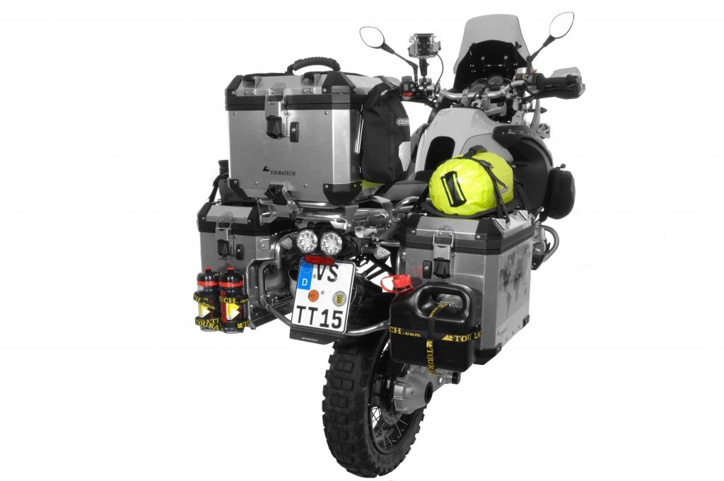 Touratech mit Zubehör für Zega Pro- und BMW-Adventure Koffer