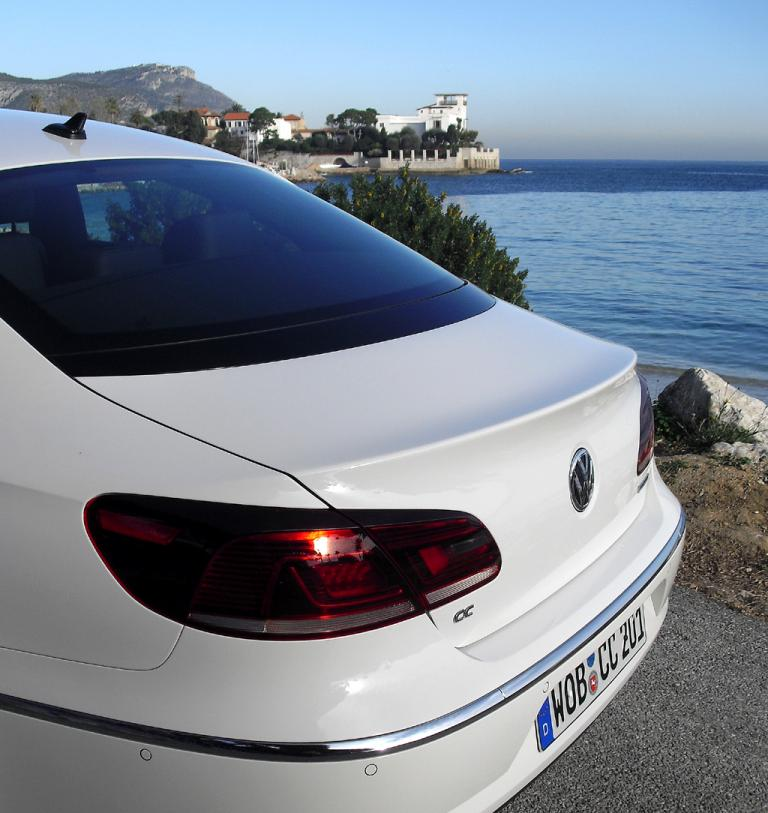 VW CC: Auch der hintere Teil des eleganten Volkswagens wirkt gelungen.
