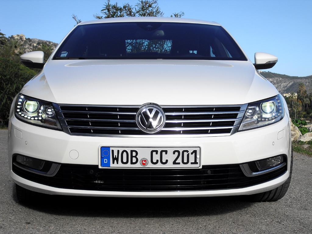 VW CC: Blick auf die neu gestaltete Frontpartie.