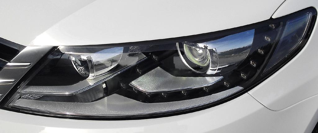 VW CC: Moderne Leuchteinheit vorn.