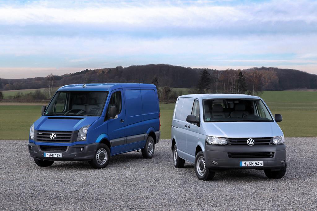 Volkswagen Transporter Blue Motion und Crafter Blue Motion.