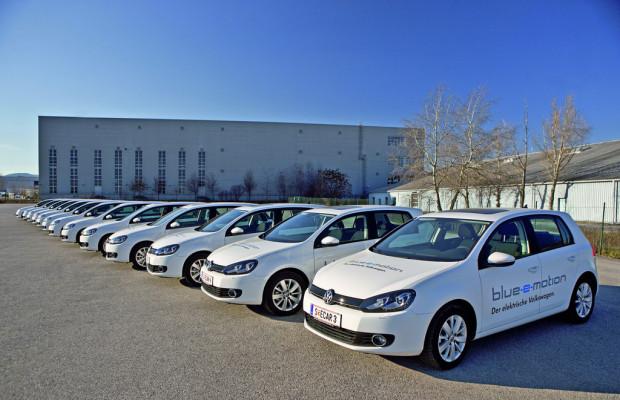Volkswagen erprobt 15 Golf Blue-e-Motion in Österreich