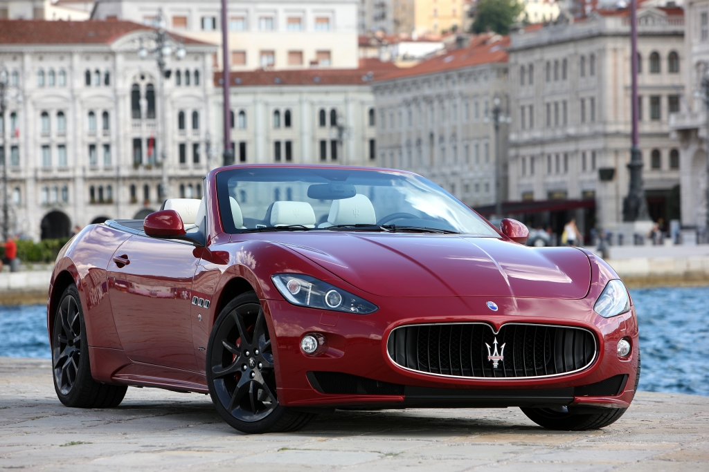 Das GranCabrio von Maserati durfte natürlich auch nicht fehlen.