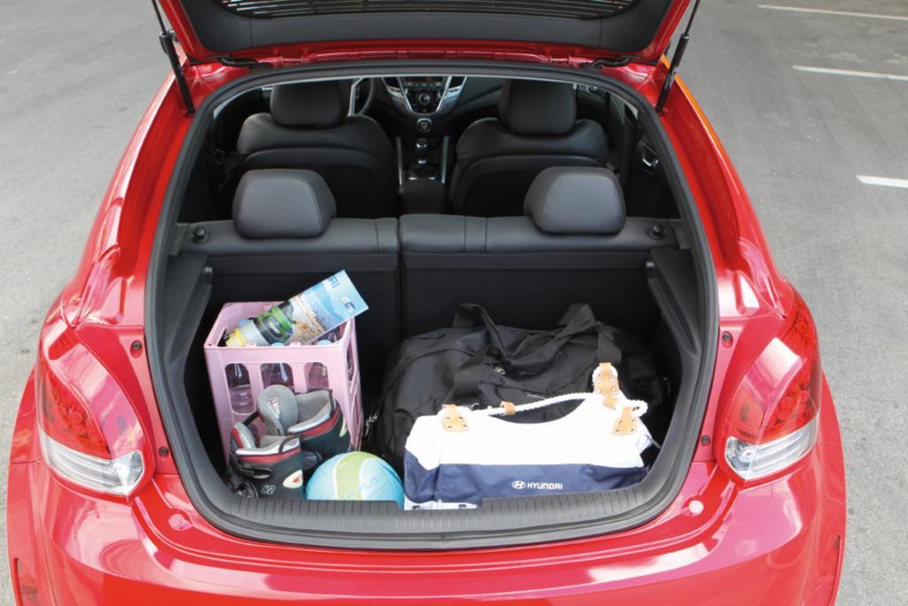 Der Gepäckraum ist ausreichend groß