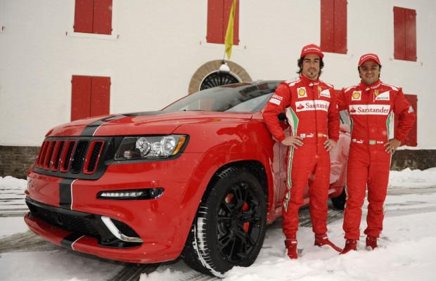 Jeep Grand Cherokee in Ferrari-Rot für Formel-1-Piloten
