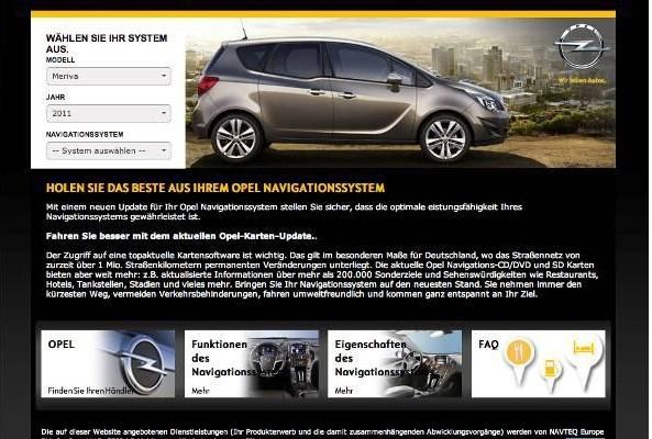 Opel startet Webstore für Navigationskarten
