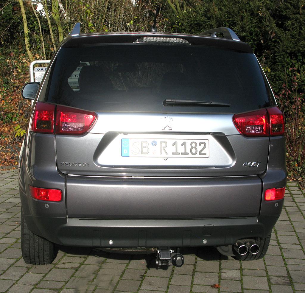Peugeot 4007: Blick auf die Heckpartie.