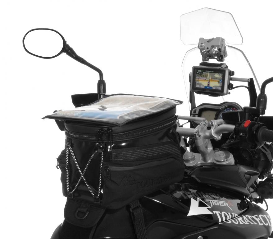 Touratech Black Edition: Tankrucksack für Triumph Tiger und Yamaha Super Ténéré