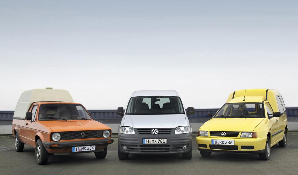 30 Jahre VW Caddy: Vom amerikanischen Pick-up zum Marktführer in Europa