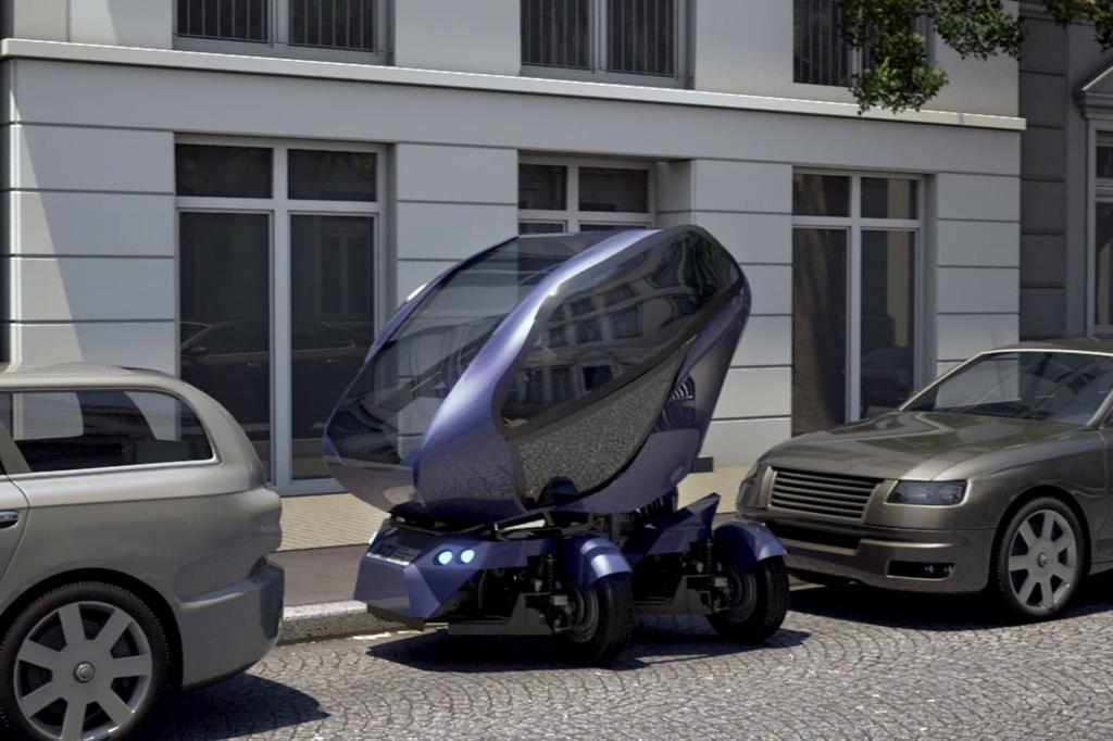 Automatisches Einparken und Andocken an Ladestationen beherrscht der Prototyp schon