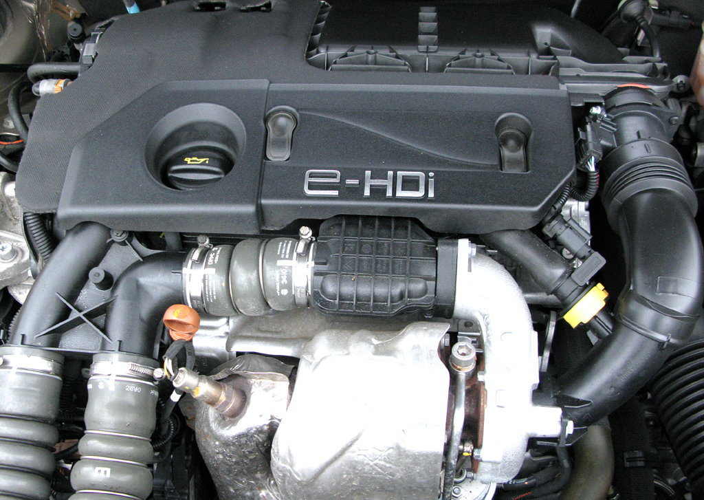 Citroën C5: Blick auf den 1,6-Liter-Vierzylinder-Selbstzünder.