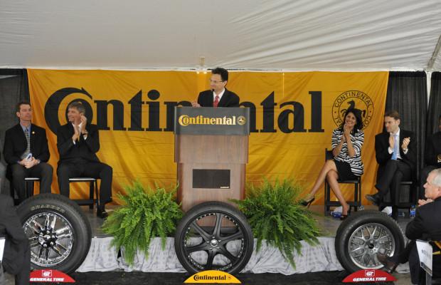 Continental legt Grundstein für neues US-Reifenwerk