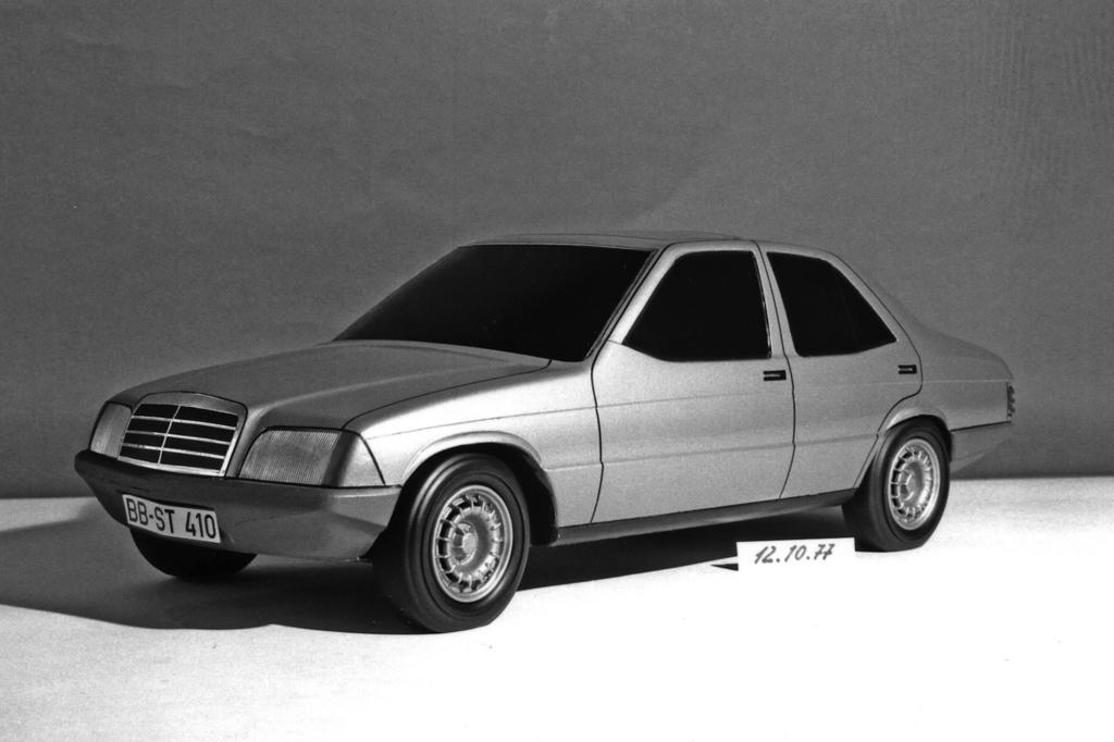 Designentwurf für Mercedes W201 von 1977
