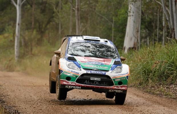 Ford Fiesta RS WRC-Werkspilot Petter Solberg fährt in Mexiko aufs Podium