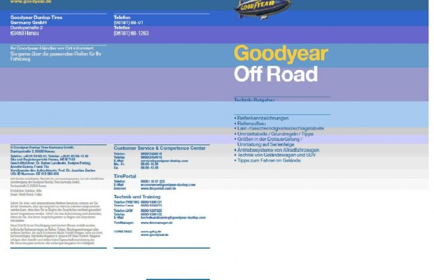 Goodyear: Offroad-Ratgeber neu aufgelegt